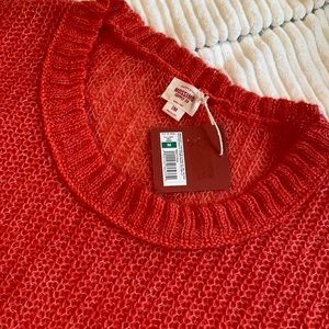 Women's Loose Knit Wool, Mohair Blend Pullover Sweater, size M
